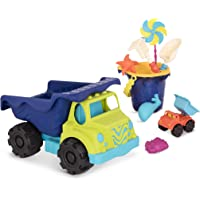 B. Toys – Complete Colossal Truck & Sand Bucket Set (10-Pc) – Toy Cars, Vehicles, & Beach Accessories for Kids Ages 18 Months+