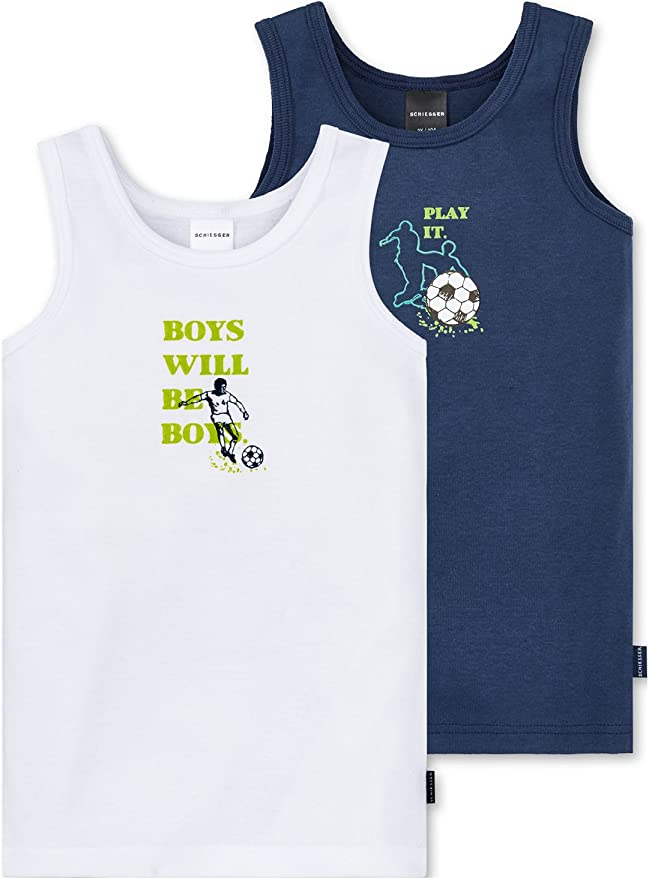 Pack of 2 Schiesser Kids Vest