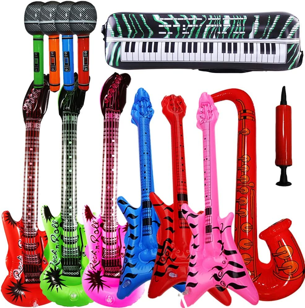 13 Pack Inflatable Rock Star Toy Set - BESLIME Music ...
