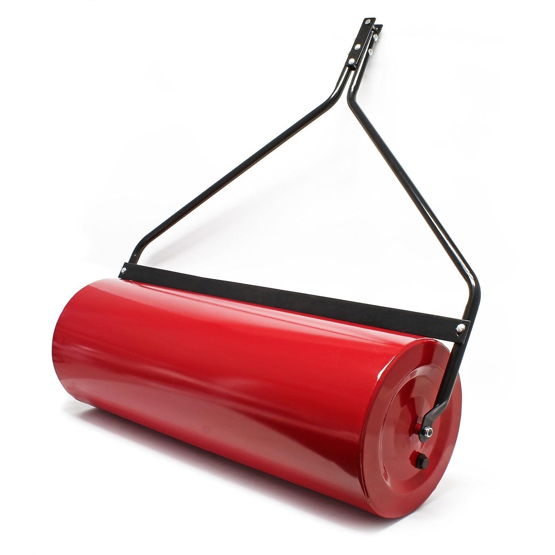 Rasenwalze 35x100cm f/ür den Rasentraktor bef/üllbar mit Schmutzabstreifer Anh/änge Rasenrolle