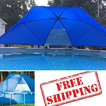Swimming Pool Shade StructuresSunshade Canopy For PoolAwningsPortable Canopy Fabric & Amazon.com : Swimming Pool Shade Structures Sunshade Canopy For ...