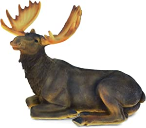 """Puzzled Elegant """"Moose"""" Figures The Wild Decor Collection Wildlife Safari Animal Theme Sculpture Resin Handcrafted Figurine Unique Home Accent Kitchen Bedroom Living Room Gift Souvenir 6 Inch"""