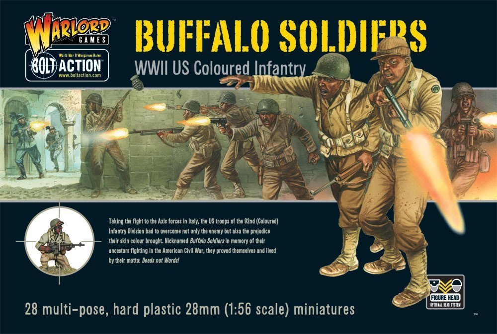 Buffalo Soldiers Model Figures 28mm 1/56th Scale