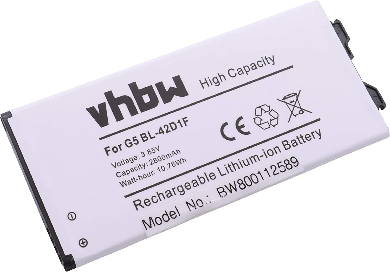vhbw Li-Ion batería 2500mAh (3.85V) para teléfono móvil Smartphone LG Optimus G5, G5 H831, G5 H8731, G5 Lite por BL-42D1F, EAC63238801.: Amazon.es: Electrónica