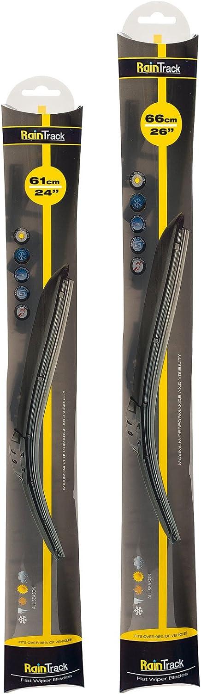 Juego de dos escobillas limpiaparabrisas delanteras. Tamaños de 66 y 35 cm: Amazon.es: Coche y moto