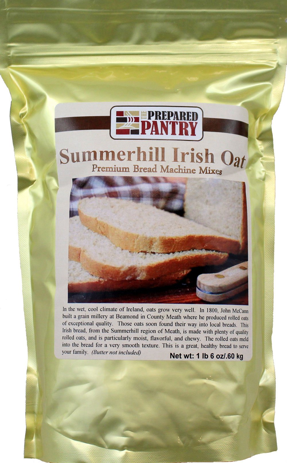 The Prepared Pantry Summer Hill Irish Oat Bread Machine Mix, 22 Ounce