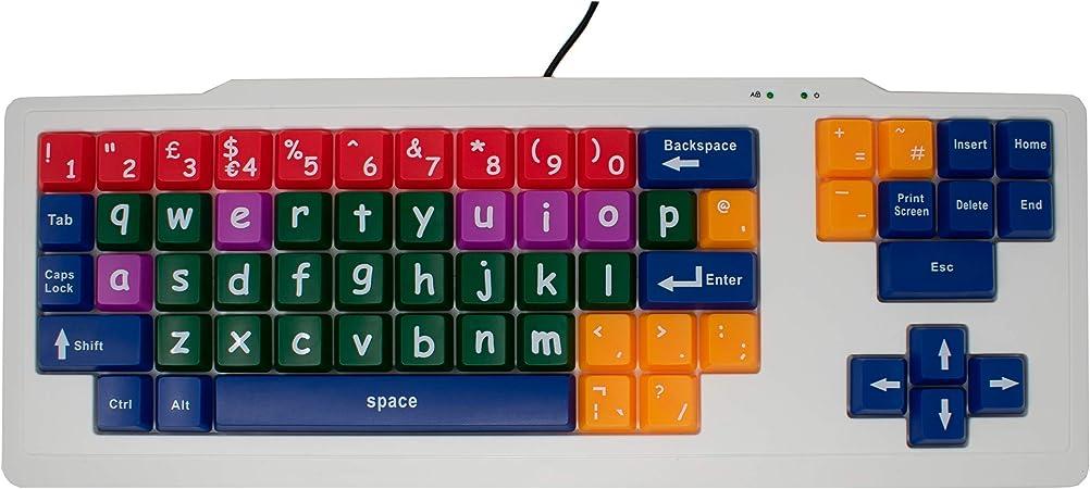 I-CHOOSE LIMITED Computadora Blanca Temprano Teclado de Aprendizaje de los Niños para Los Niños con Teclas Minúsculas de Colores