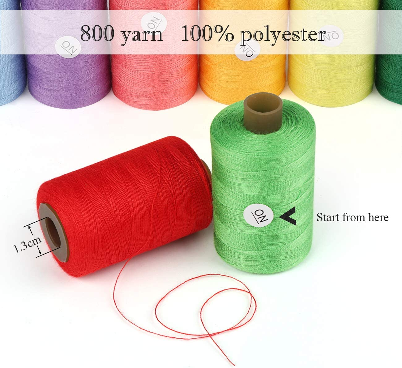 ghdonat.com 800yd Each of Serger Sewing Machine Thread Perfect for ...