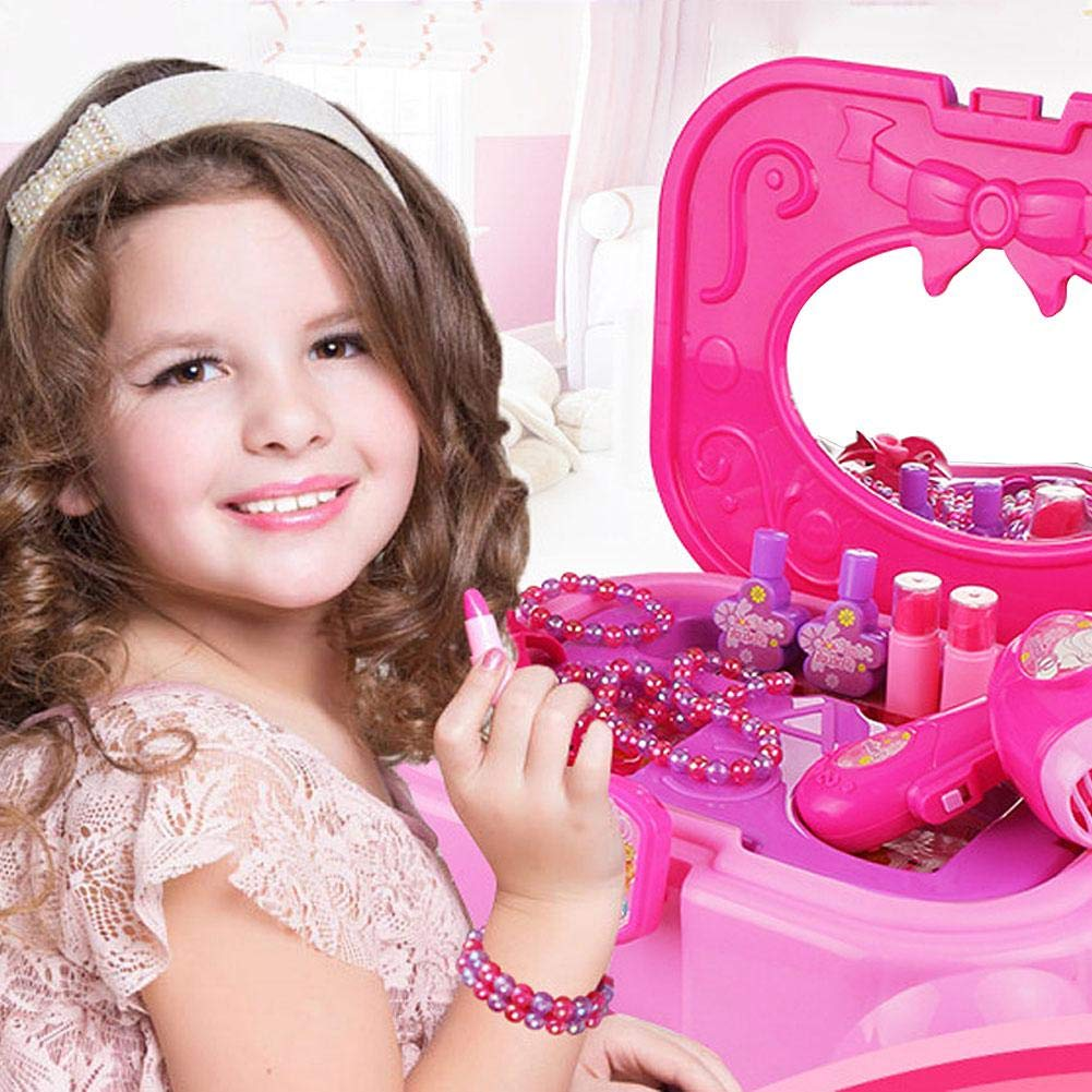 Children's Play Toy - Princess Dressing Table Toy Set Makeup Box Dressing Table Toy by HUVE (Image #3)