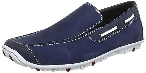 Rieker 08961-16 - Mocasines de cuero para hombre, color azul, talla 41: Amazon.es: Zapatos y complementos