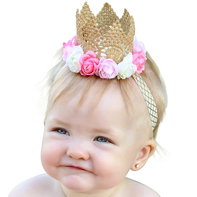 26d88dd65d Image Unavailable. Image not available for. Color: Baby Headband Newborn Girl  Princess Tiara ...