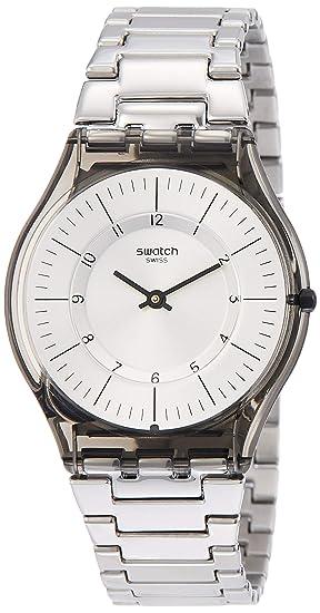 Swatch Reloj Analógico para Mujer de Cuarzo con Correa en Acero Inoxidable SFM134G