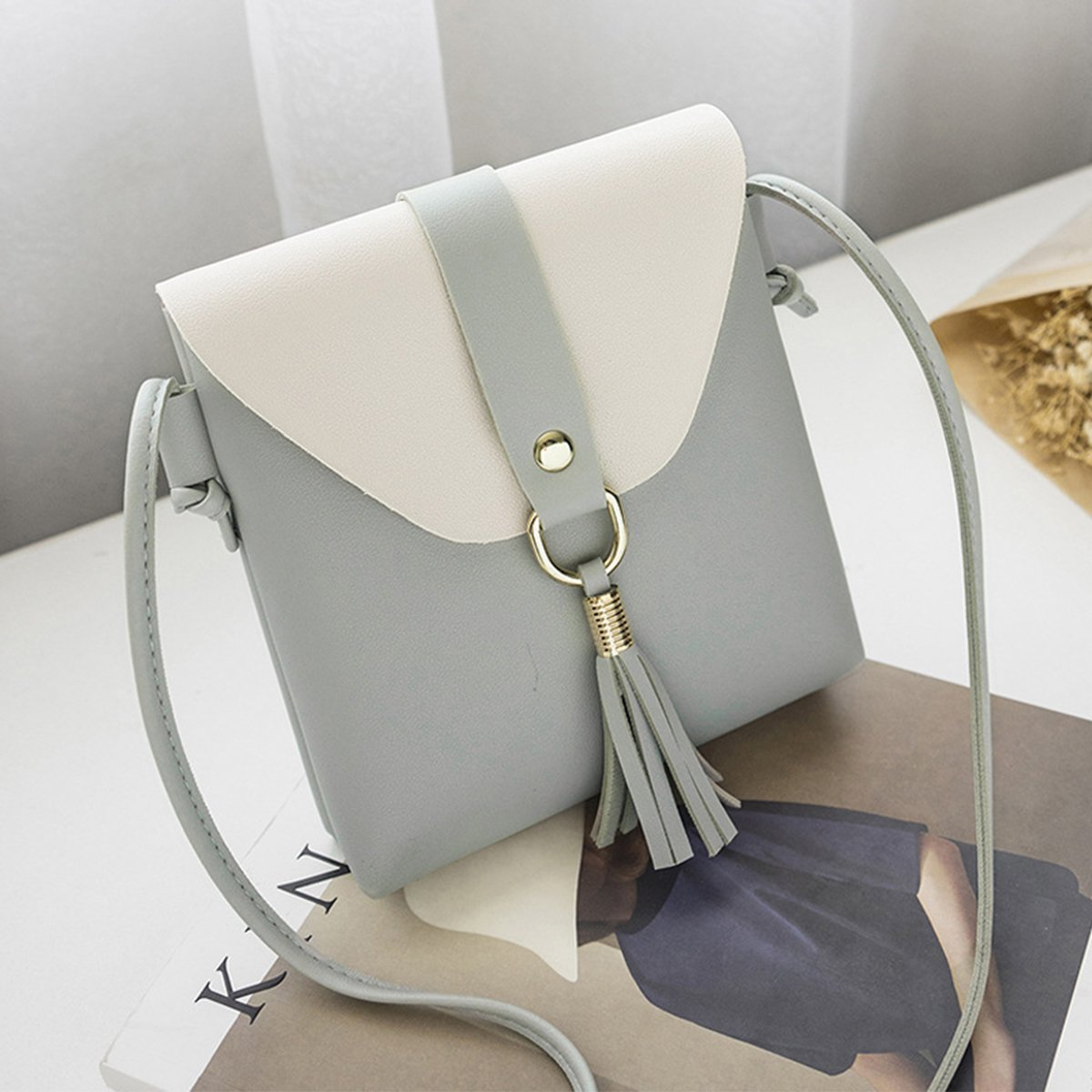 Evaliana Women Office Work Handbag Shoulder Bag Messenger Tote PU Leather Purse Satchel