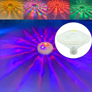 Niser Swimming Pool Lights Floating Pool Lights Underwater Lights Pool Accessories with 7 Modes for Christmas Decorations,Disco Pool Party or Pond Décor