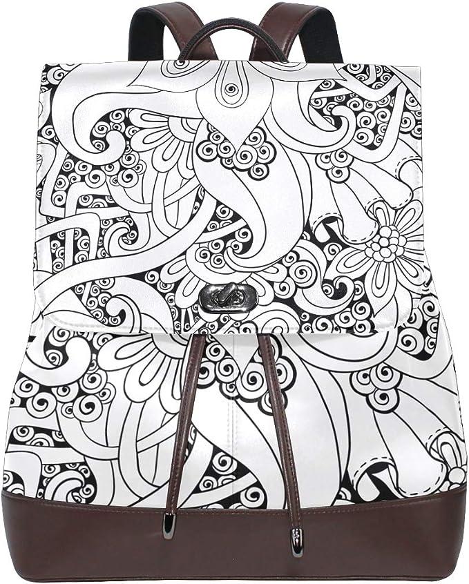 KEAKIA Women PU Leather Owl Backpack Purse Travel School Shoulder Bag Casual Daypack
