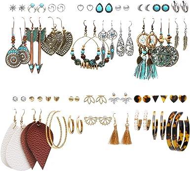 rose gold colorful tassel earrings festival jewelry Green tassel pom pom hoop earrings for her birthday gift boho tassel jewelry  NINA