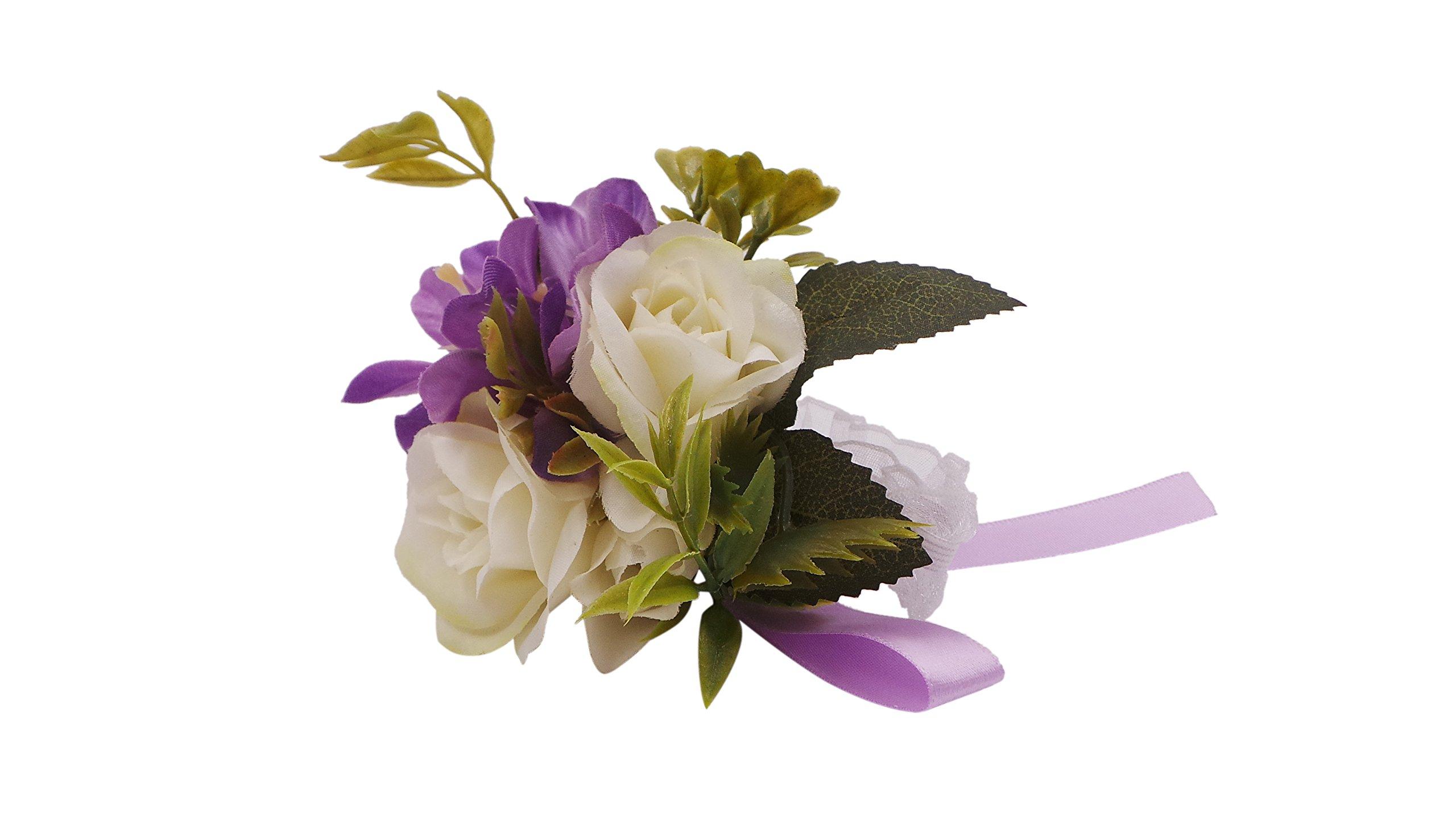Abbie-Home-Wedding-Wrist-Corsage-Brooch-Boutonniere-Set-Party-Prom-Hand-Flower-Decor