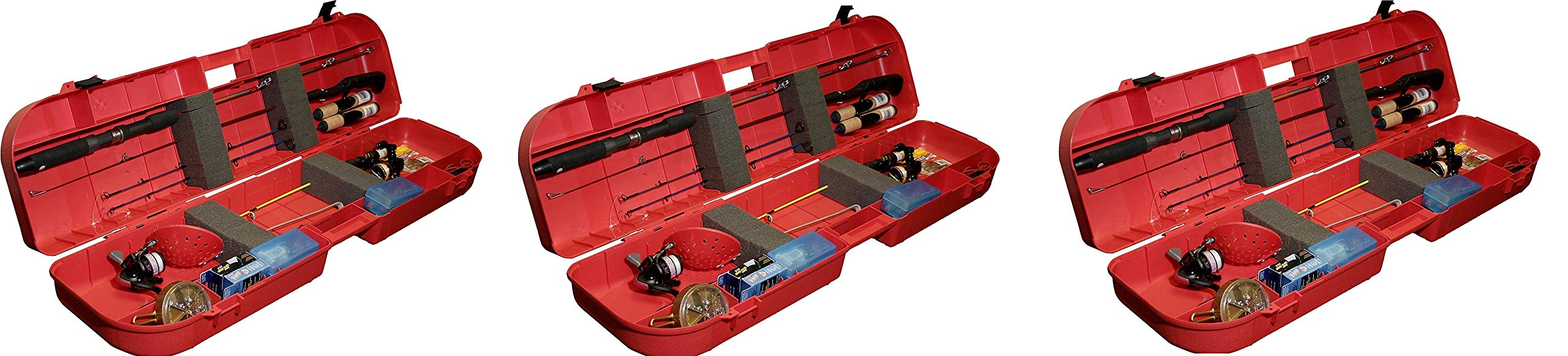 MTM Ice Fishing Rod Box (Red) (Pack of 3)