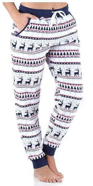 mitad de descuento dc842 2e196 Frankie & Johnny Ropa de Dormir para Mujer Pijama de Forro Polar -  Pantalones de Pijama