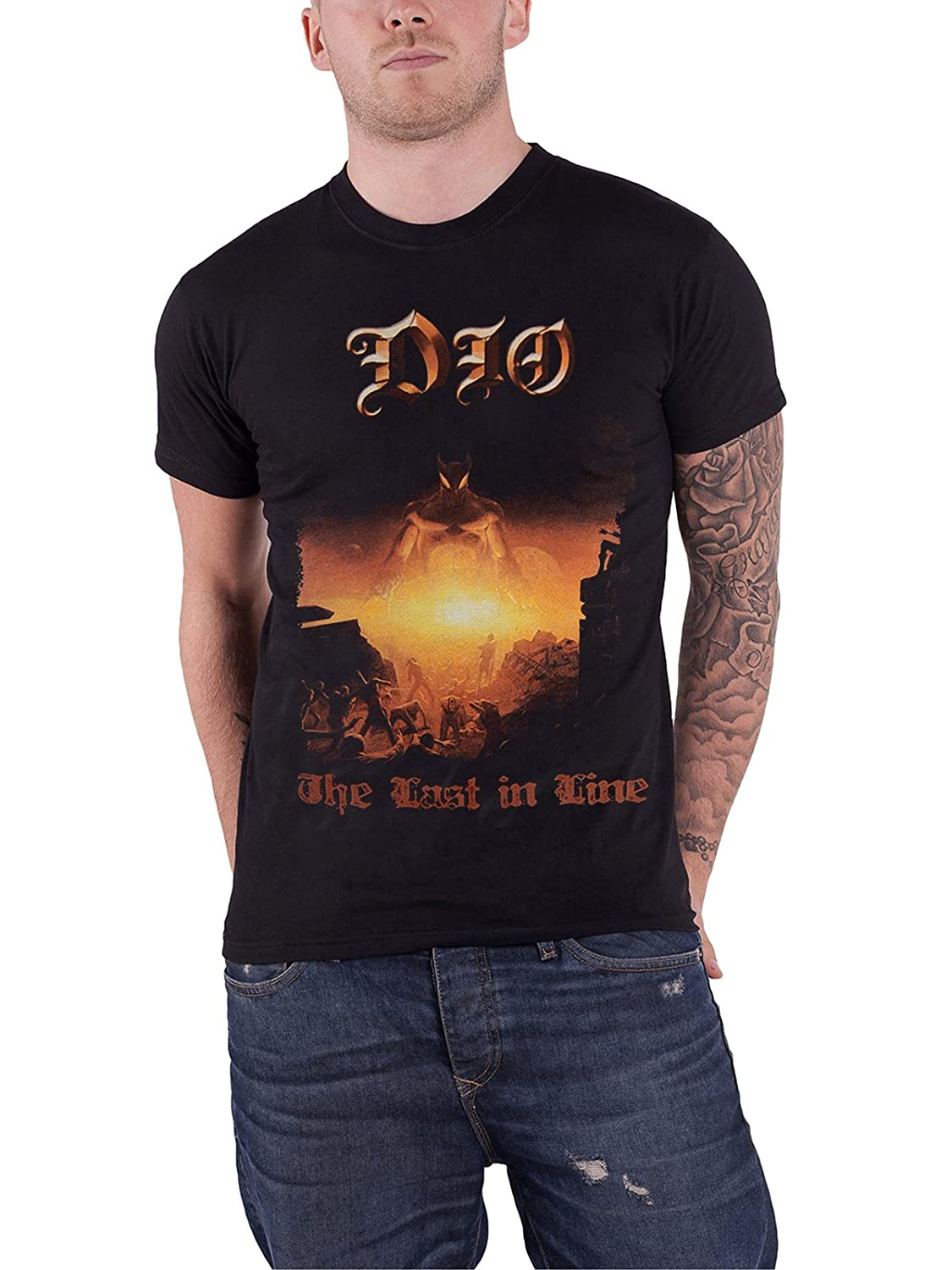 Dio T Shirt Last in Line Band Logo Ronnie James New Official Mens Black