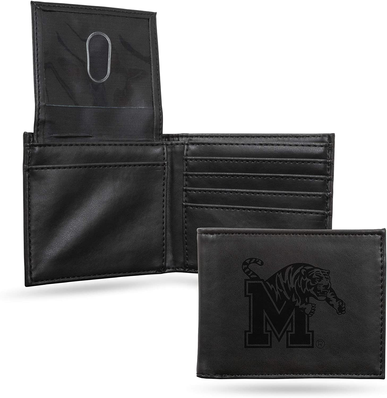 NCAA Rico Industries  Laser Engraved Billfold Wallet Memphis Tigers