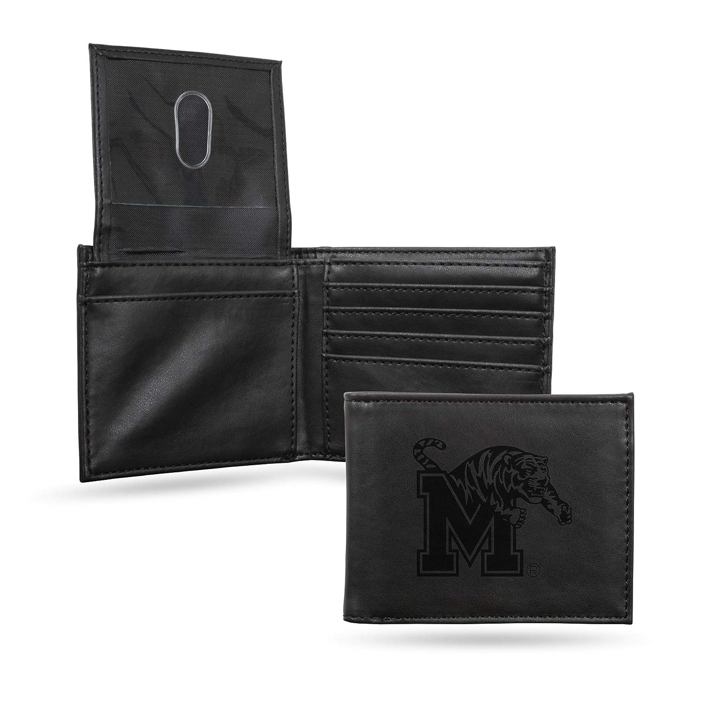 Black Rico Industries NCAA Laser Engraved Billfold Wallet
