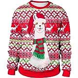 Sudadera Navidad Estampadas Sudaderas Navideñas Unisex Jersey Sueter Navideño Hombre Mujer Reno Sweaters Pullover Cuello…