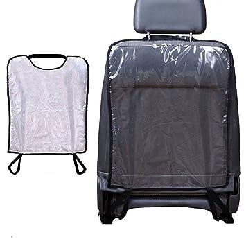 Auto Rückenlehnenschutz 2 Stück Kinder Trittschutz Kick Matten Anti Schmutzig Rücksitzschoner Wasserdicht Autositz Rückenschutz Transparent Schutzbezug Baby