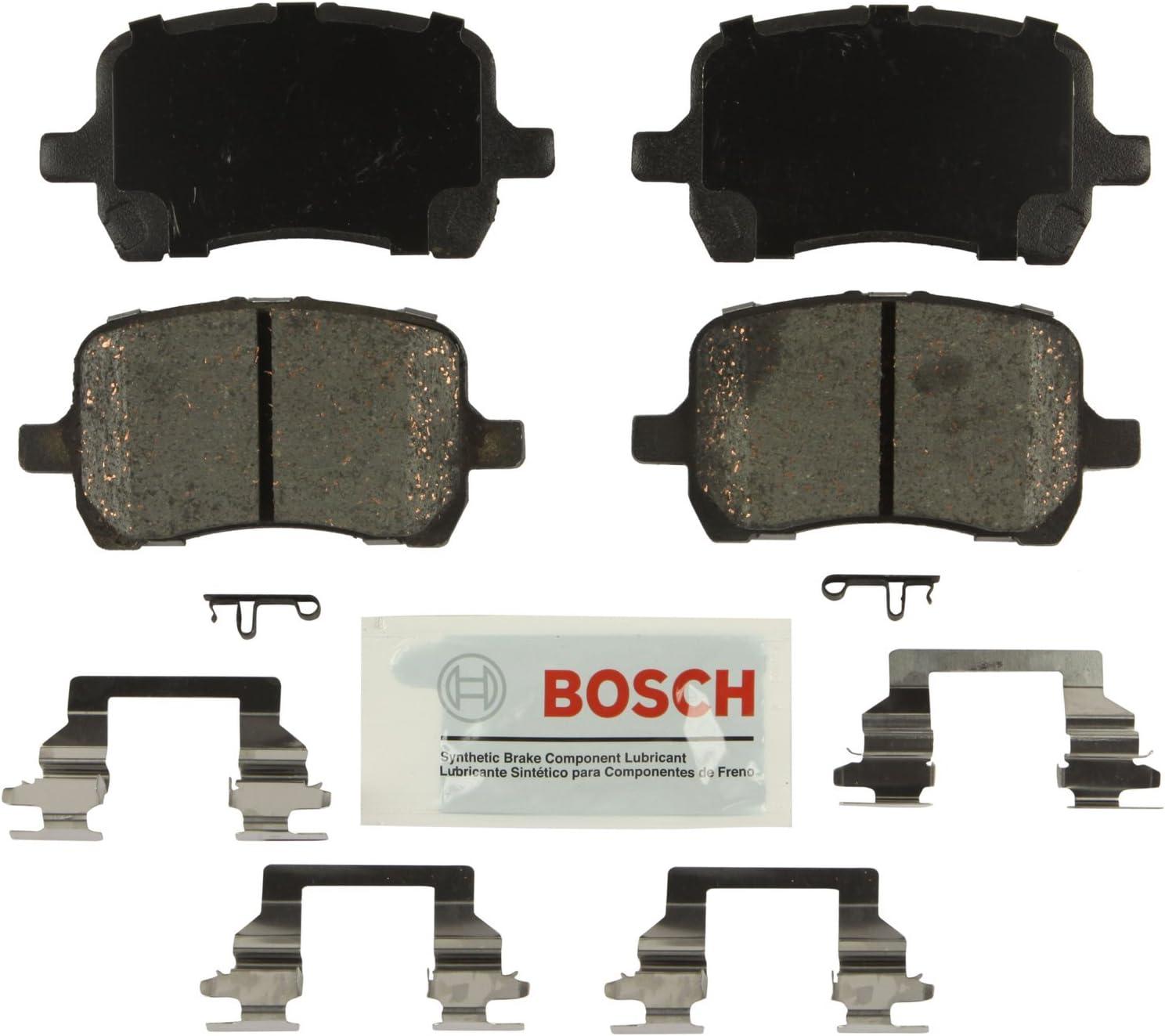 Bosch BE1160H Blue Disc Brake Pad Set with Hardware for Select Chevrolet Cobalt HHR Malibu; Pontiac G5 FRONT G6; and Saturn Aura Vehicles