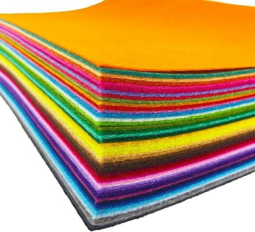30 cm * 30 cm 1,4 mm de grosor suave hoja de fieltro Pack de fieltro de varios colores DIY de coser Craft cuadrados no tejido Pink: Amazon.es: Hogar