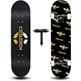 ANDRIMAX Skateboards-Complete Skateboards for Beginners Kids Boys Girls Adults Youth-Standard Skateboards 31''x8'' with…