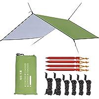 Esup 10 x 10 ft Hammock Rain Fly Lightweight Windproof Tent Tarp, 210T Ripstop Nylon Material, Camping, Hiking Essential Gear