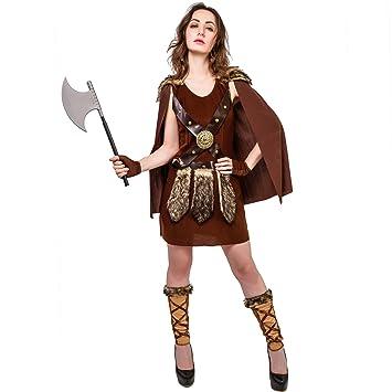 SEA HARE Disfraz de Guerrero Romano Vikingo para Mujer