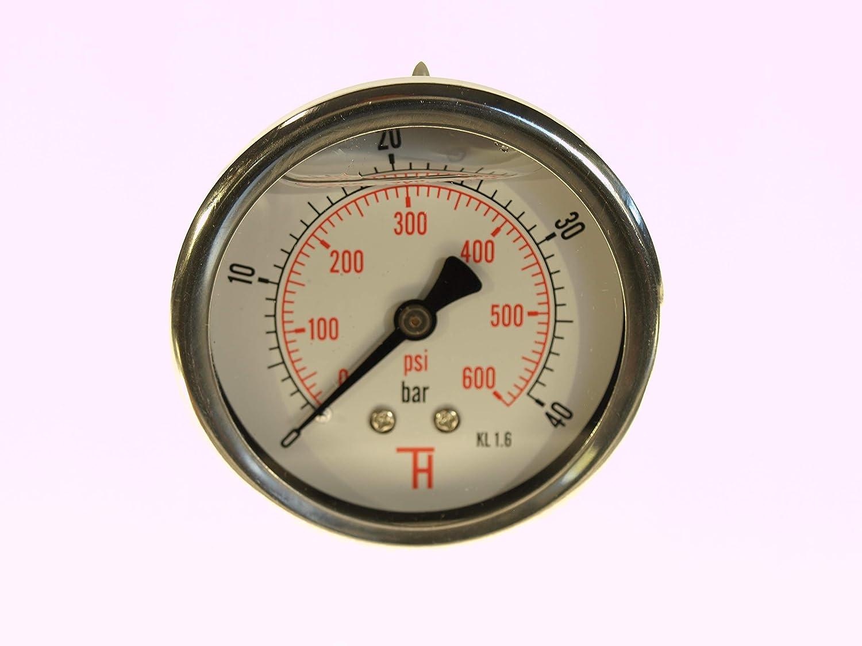 0 /– 250 bar 63 mm THERMIS Manometer 358G 1//4 Anschluss von hinten