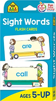 School Zone - Sight Words Flash Cards - Ages 5 and Up, Kindergarten to 1st Grade, Phonics, Beginning Reading, Sight Reading,