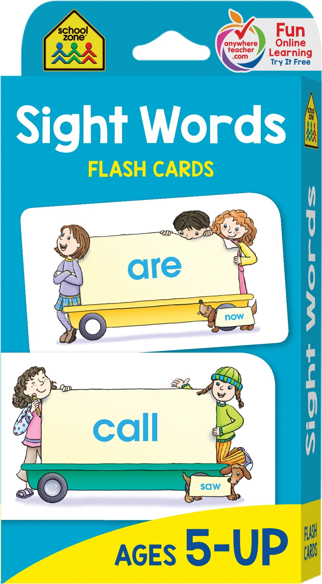School Zone - Sight Words Flash Cards - Ages 5 and Up