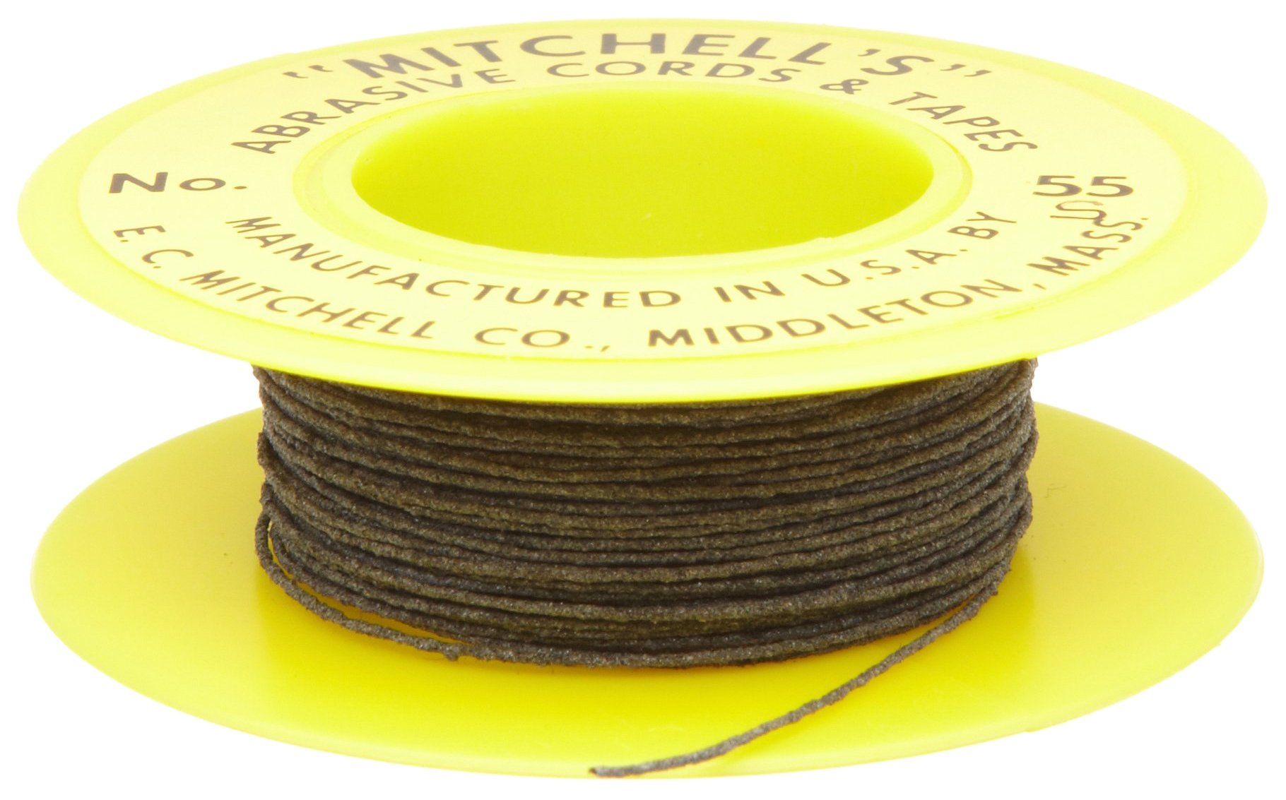 Mitchell Abrasives 55-S Round Abrasive Cord, Silicon Carbide 200 Grit .018'' Diameter x 25 Feet