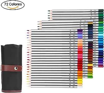 GHB Lápices de Colores 72 Colores Lápices Profesional para