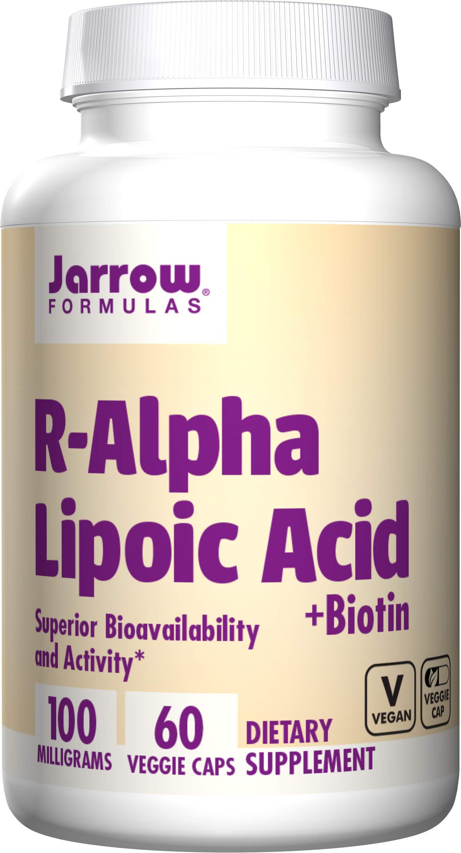 Jarrow Formulas R-Alpha Lipoic Acid, Superior Bioavailability*, 100 mg, 60 Caps