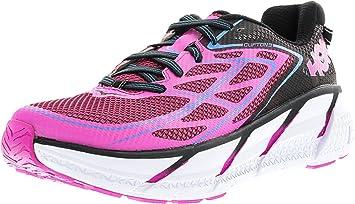 Hoka One Women's Clifton 3 Anthracite/Neon Fuchsia AnkleHigh Fabric Cross  Trainer Shoe