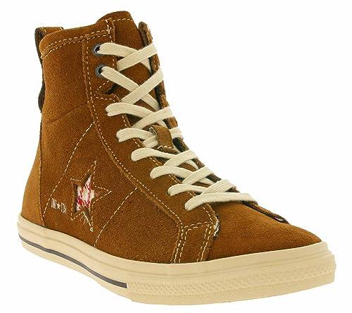 CONVERSE ONE STAR 2011 HI SUE 125284C Unisexadult Sports Shoe Brown 4 UK