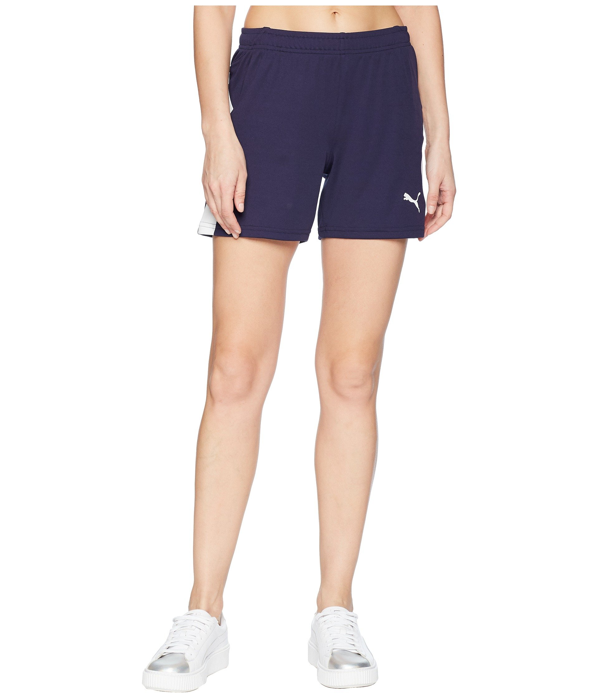 PUMA Women's Liga Shorts Peacoat White Small 5