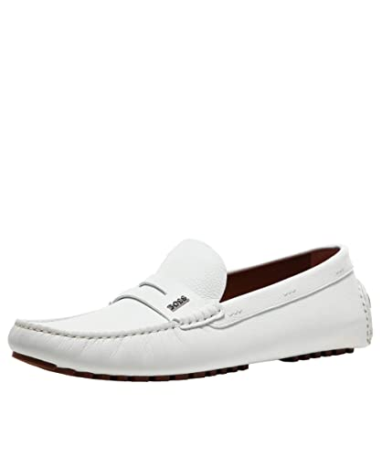 bde79aaa711d4 Amazon.com   BOSS Men's Tumbled Leather Driver_Mocc_grhw Loafers ...