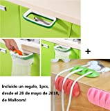 Malloom® Hanging armario cocina gabinete puerta posterior del soporte de almacenamiento de basura Bolsas estante