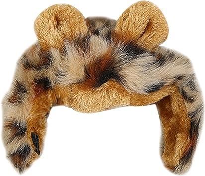 Lindo divertido mascota perro gato Traje peluca León melena pelucas con orejas para fiesta de Halloween vestido: Amazon.es: Juguetes y juegos