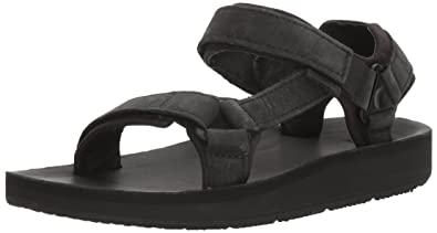 e4f4740e8e0351 Teva Women's W Original Universal Premier-Leather Sport Sandal, Midnight  Black, ...