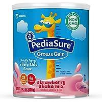Pediasure Grow & Gain 草莓混合奶昔 儿童营养奶昔 14.1 oz(400g), 3罐