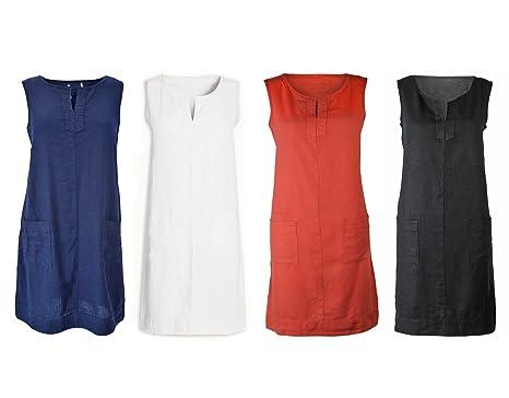f67e10c56b Next Red Linen Sleeveless Summer Shift Dress RRP £28  Amazon.co.uk  Clothing