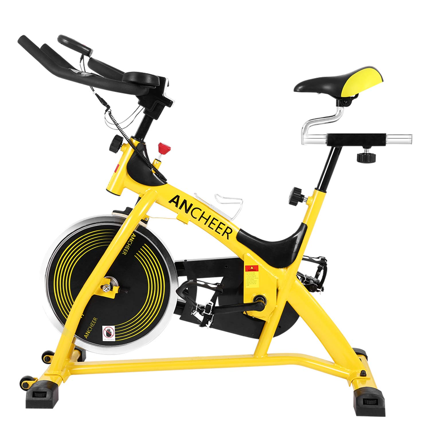 ANCHEER Indoor Cycling Exercise Bike (Yellow)