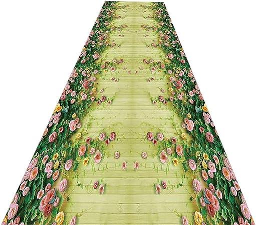 Lil Alfombras de Escalera 3D Pasillo Flores Creativas Alfombra Completa Alfombra de la Boda para el